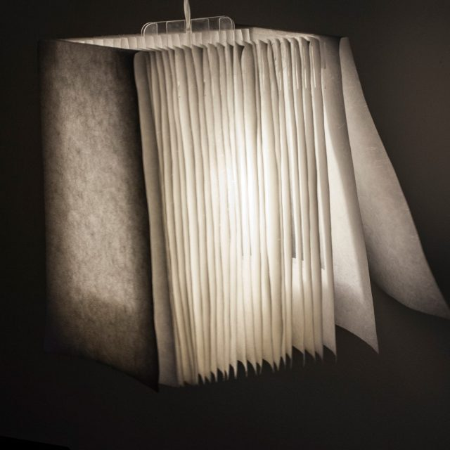 Detailed picture of a designer lampshade featured installed in DestinationBCN Fiji apartment
