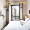 Room No1 interior and balcony in Barcelona
